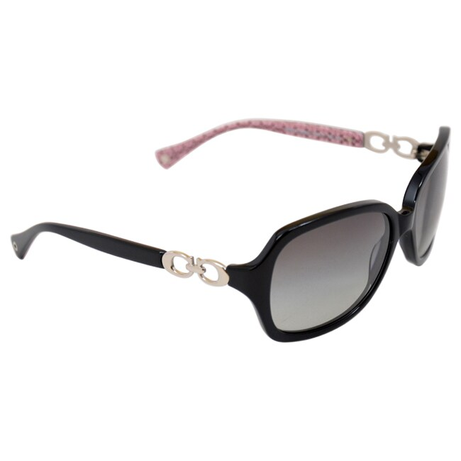ba120282c8 ... spain switzerland shop coach womens beatrice 0hc8019 503411 black oval plastic  sunglasses free shipping today overstock