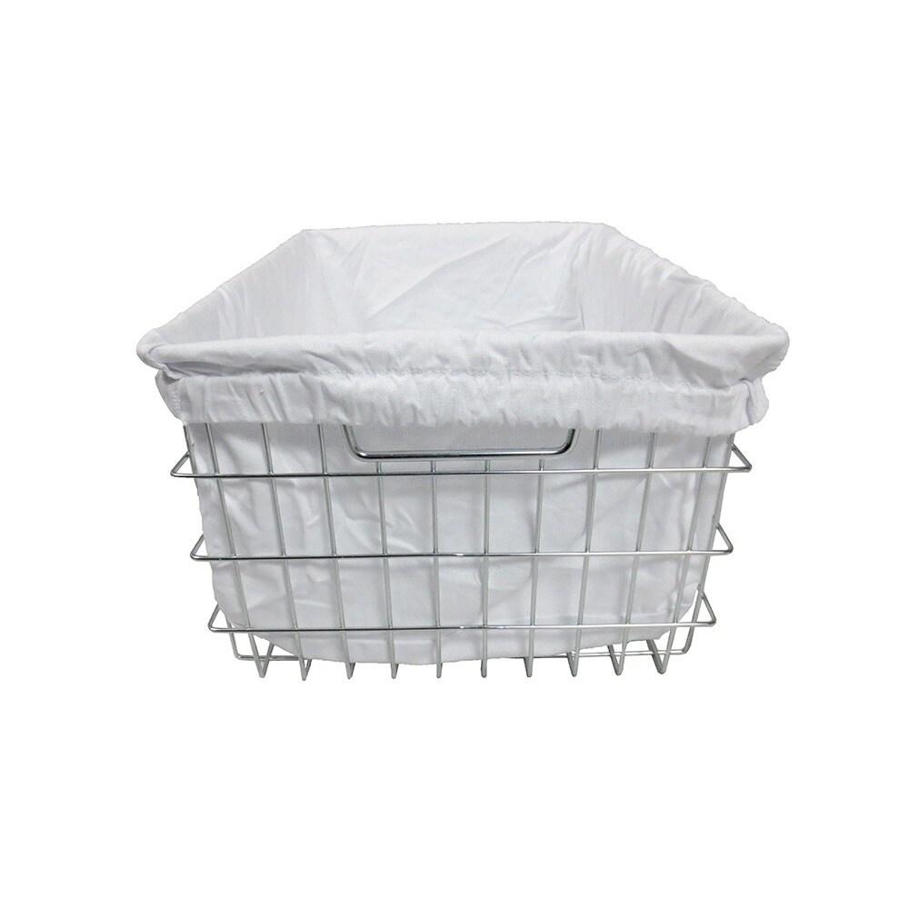 Shop TRINITY EcoStorage Chrome Wire Basket with Cover - Free ...