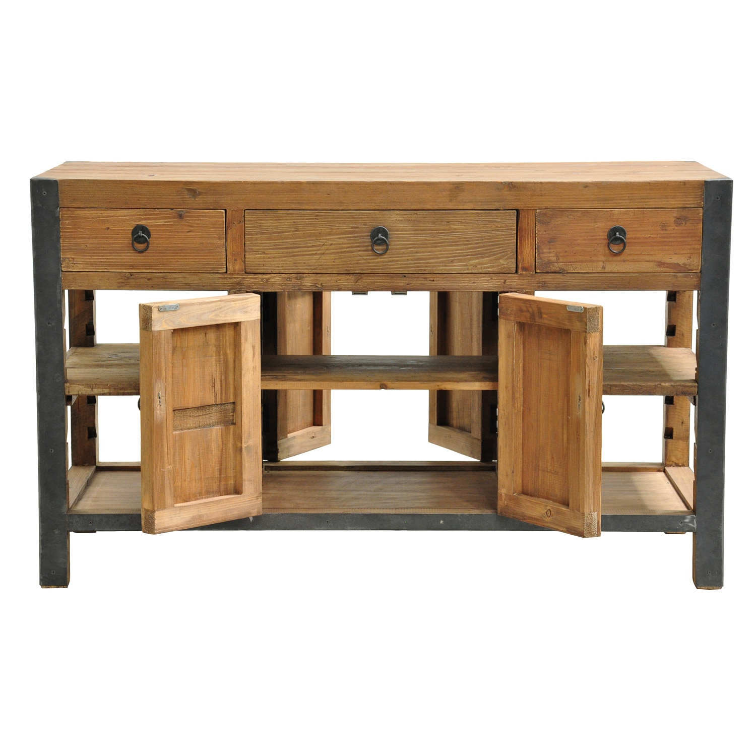 Shop Pine Canopy Pike Reclaimed Wood And Iron 60 Inch Kitchen Island   On  Sale   Free Shipping Today   Overstock.com   20253947