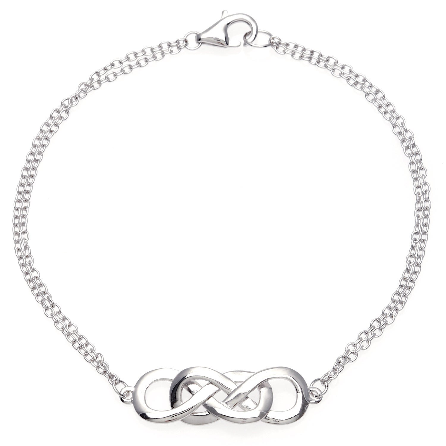 in double kqtx layering love sterling heart silver il products fullxfull infinity endless bracelet