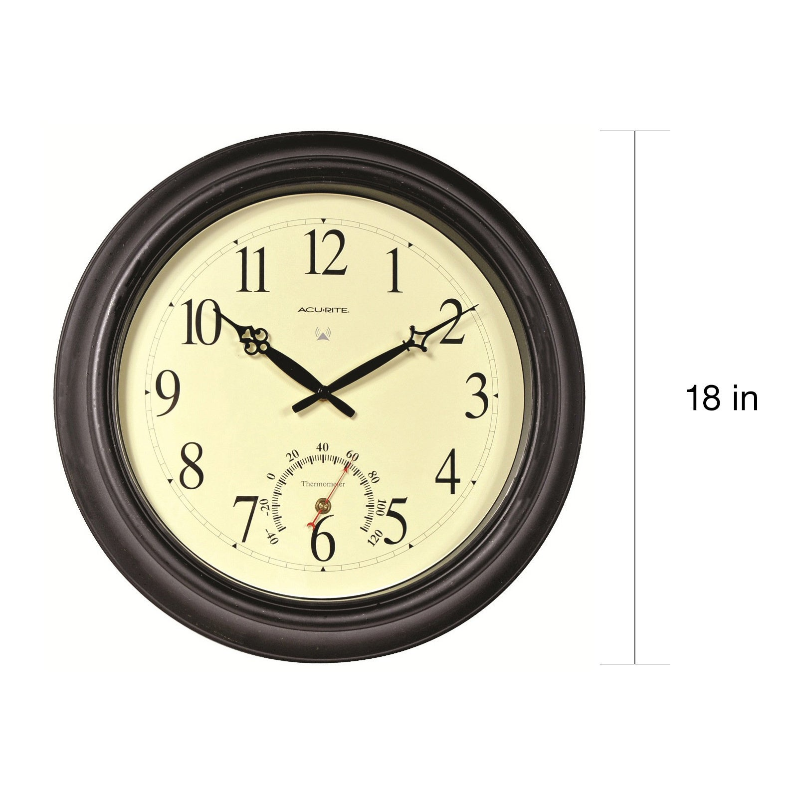 Shop Acu-rite 18-inch Outdoor Atomic Wall Clock - Free Shipping ...