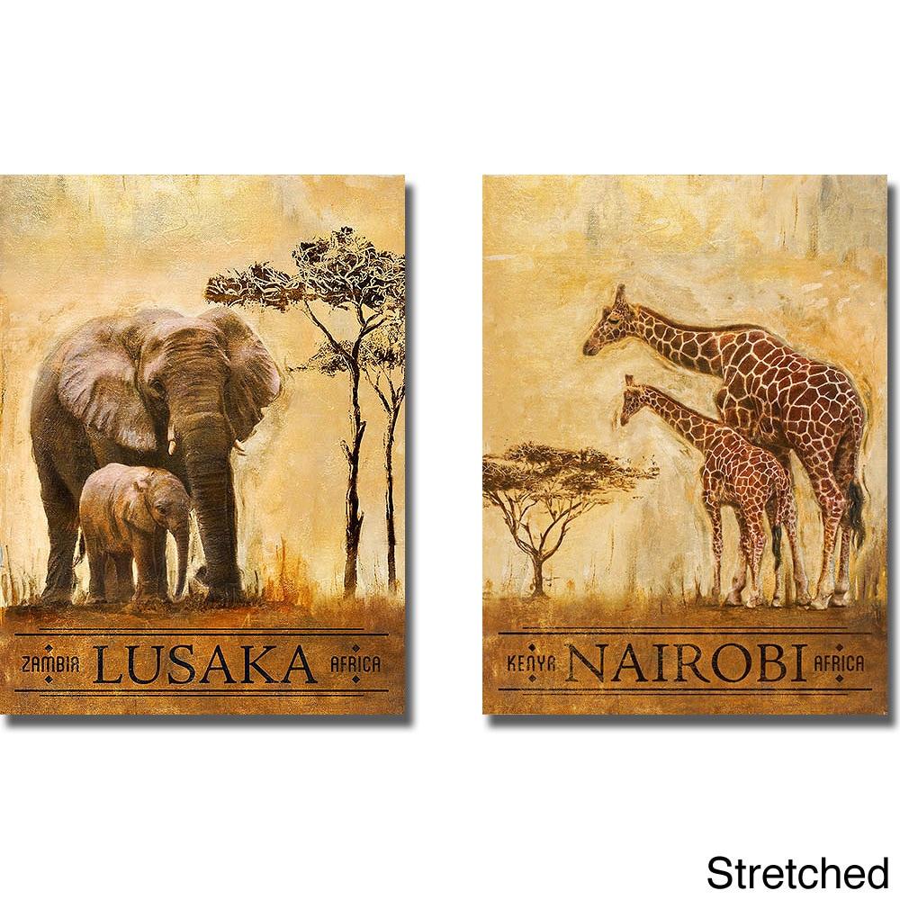 Shop Patricia Pinto \'Lusaka and Nairobi\' Canvas Art - On Sale - Free ...