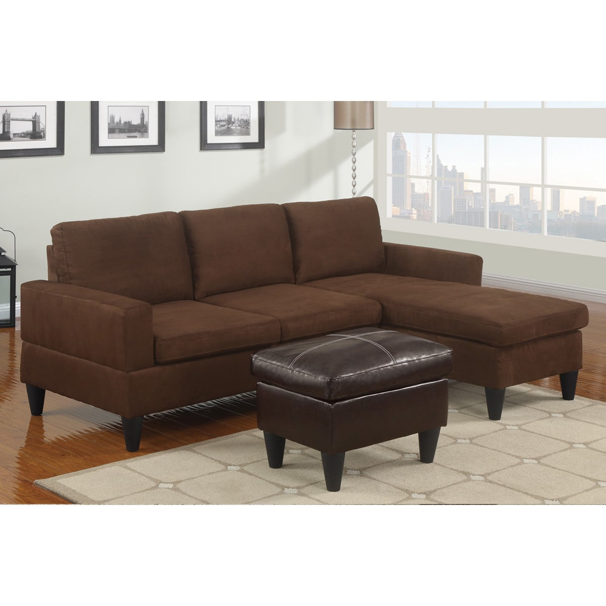 Shop Reversible All In One Sectional Sofa Free Shipping Today