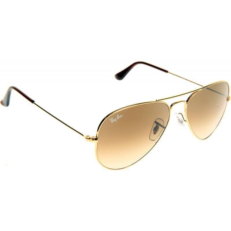 341fd48103d Shop Ray-Ban Aviator  RB3025  Unisex Gold Frame Light Brown Gradient Lens  Sunglasses - Free Shipping Today - Overstock - 8546523