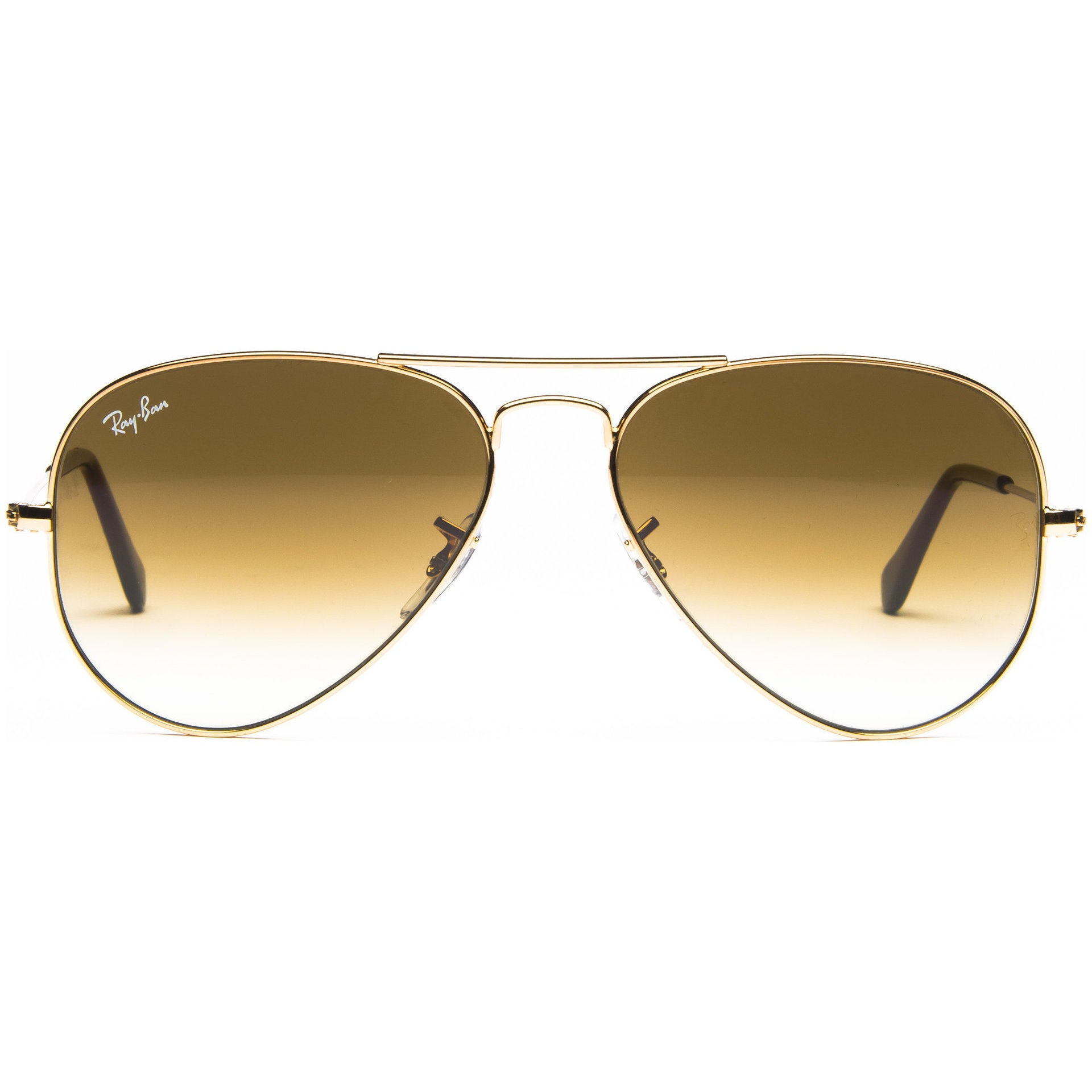 d0e7bfa69503d ... where to buy shop ray ban aviator rb3025 unisex gold frame light brown  gradient lens sunglasses