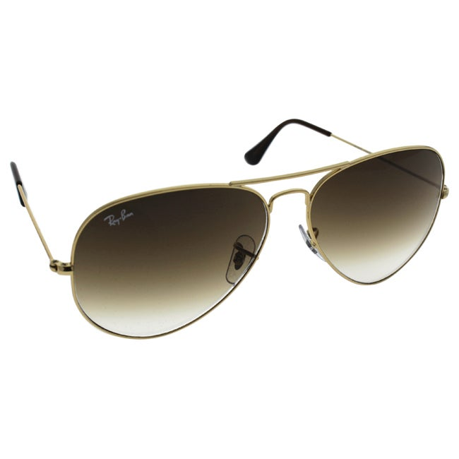 1f094e1b1 Shop Ray-Ban Aviator 'RB3025' Unisex Gold Frame Light Brown Gradient Lens  Sunglasses - Free Shipping Today - Overstock - 8546523