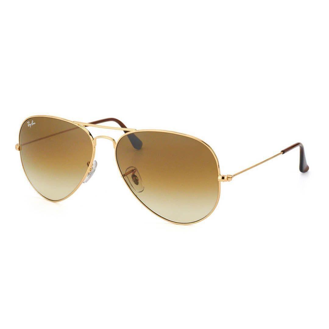 2921e3d188b69 Ray-Ban Aviator  RB3025  Unisex Gold Frame Light Brown Gradient Lens  Sunglasses