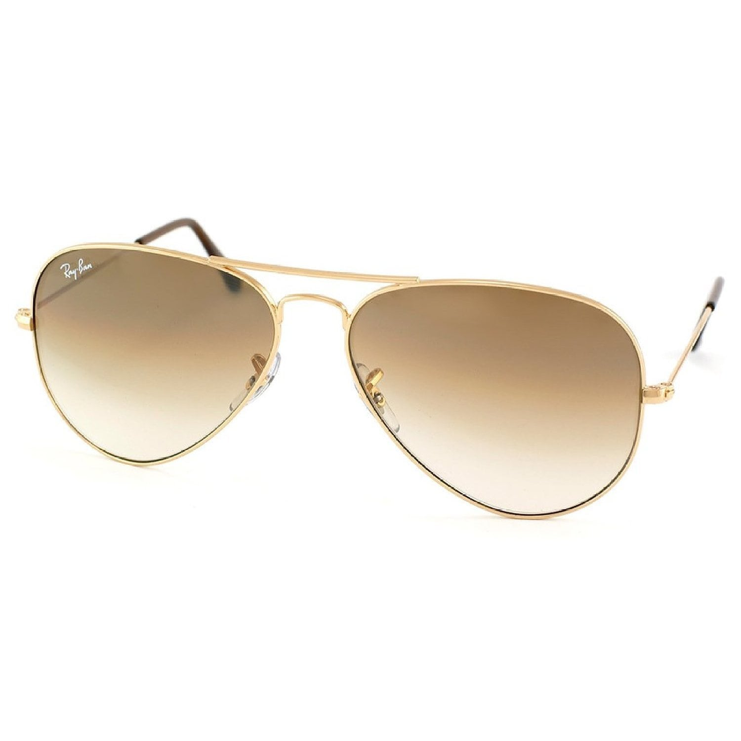 0a05e56350b Shop Ray-Ban Aviator  RB3025  Unisex Gold Frame Light Brown Gradient Lens  Sunglasses - On Sale - Free Shipping Today - Overstock - 8546523