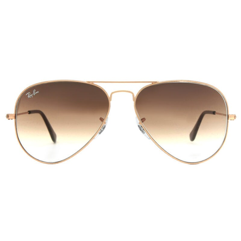aaaaa2101f8 ... where to buy shop ray ban aviator rb3025 unisex gold frame light brown  gradient lens sunglasses