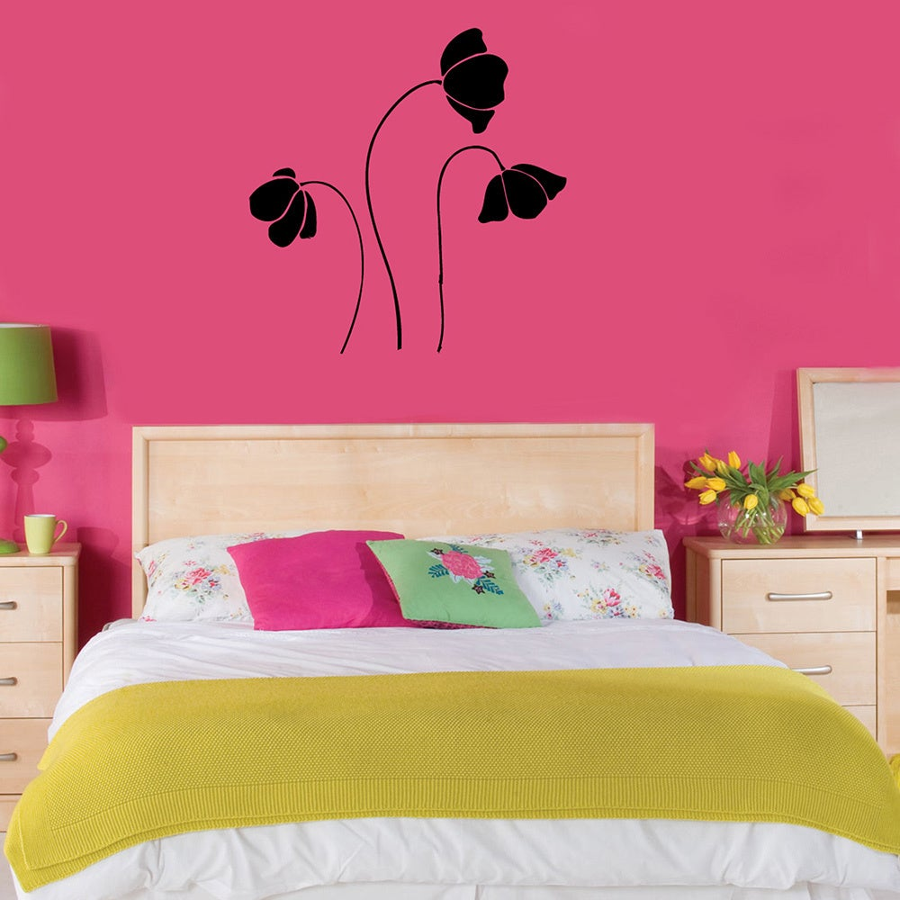 Shop Poppy Flowers Vinyl Wall Decal Free Shipping On Orders Over