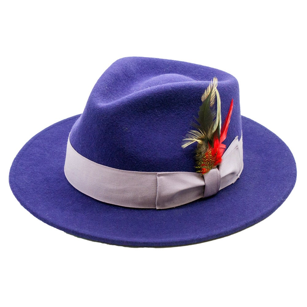 f13330ce7c6 Shop Ferrecci Men s Purple Lavender Fedora Hat - Free Shipping On Orders  Over  45 - Overstock - 8546781