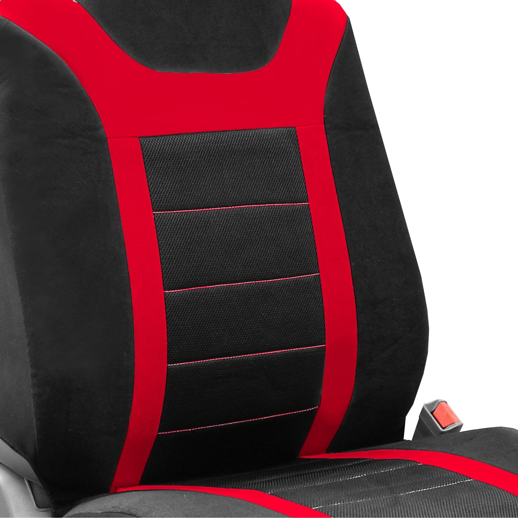 FH Group Red Airbag Compatible Sports Car Seat Covers Full Set