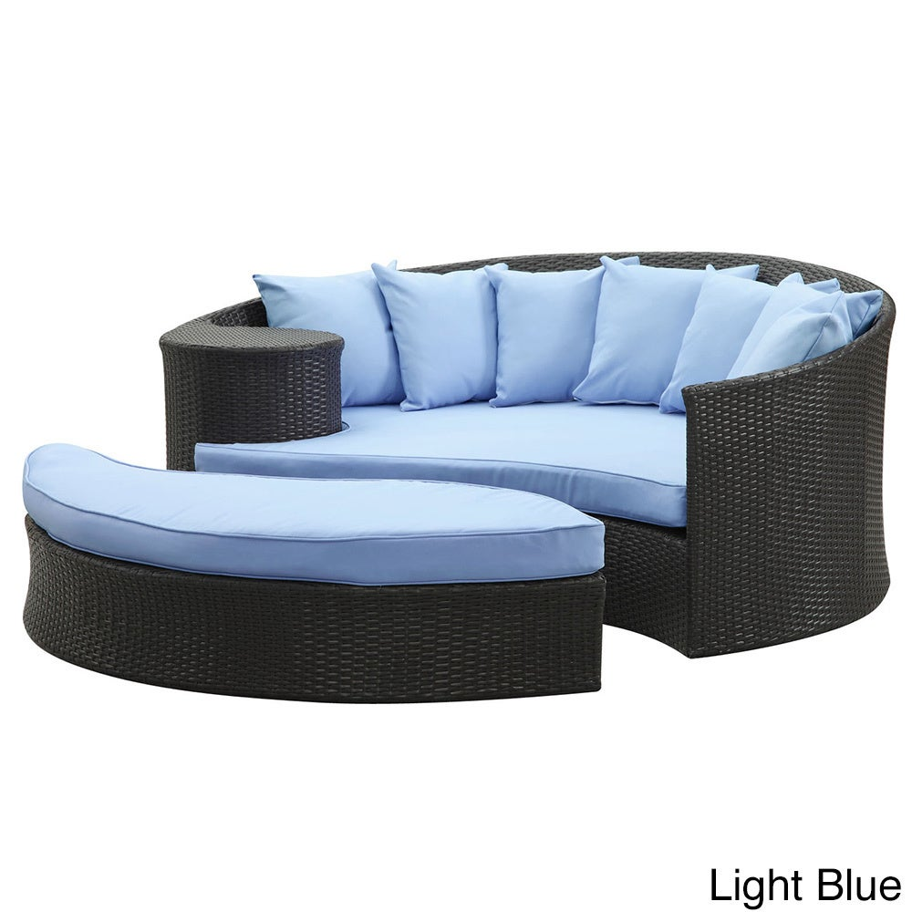 Modway Taiji Outdoor Wicker Patio Daybed With Ottoman And Cushions Free Shipping Today 15827521