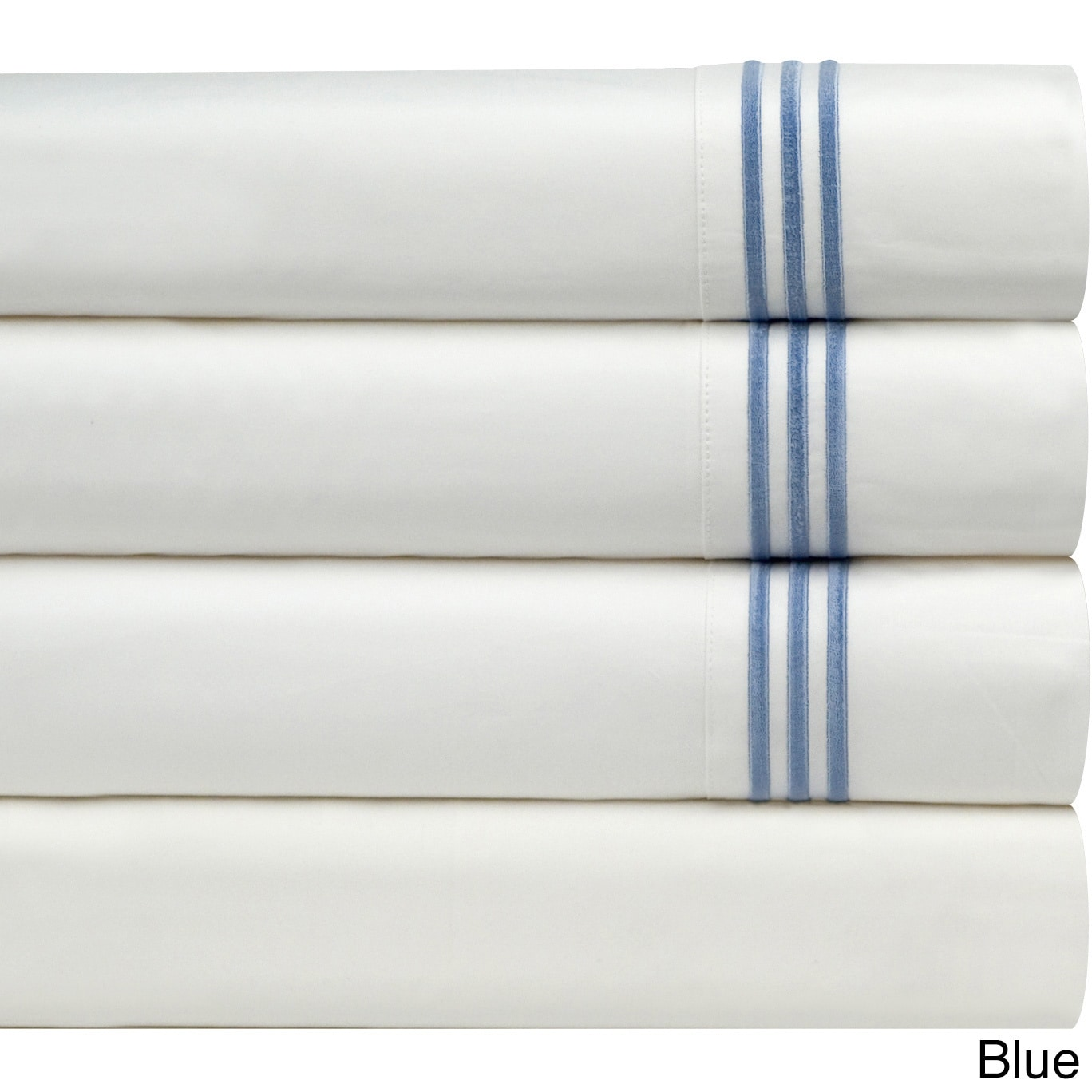 Pointehaven Egyptian Cotton Extra Deep Pocket Embroidered Percale Sheet Set Free Shipping On Orders Over 45 8549350