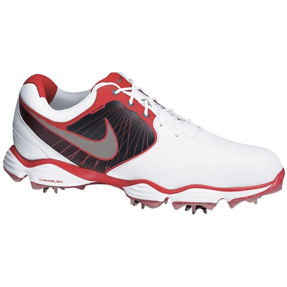 9de80a9d89f4 Shop Nike Men s Lunar Control II White  Black  Red Golf Shoes - Free  Shipping Today - Overstock - 8549908