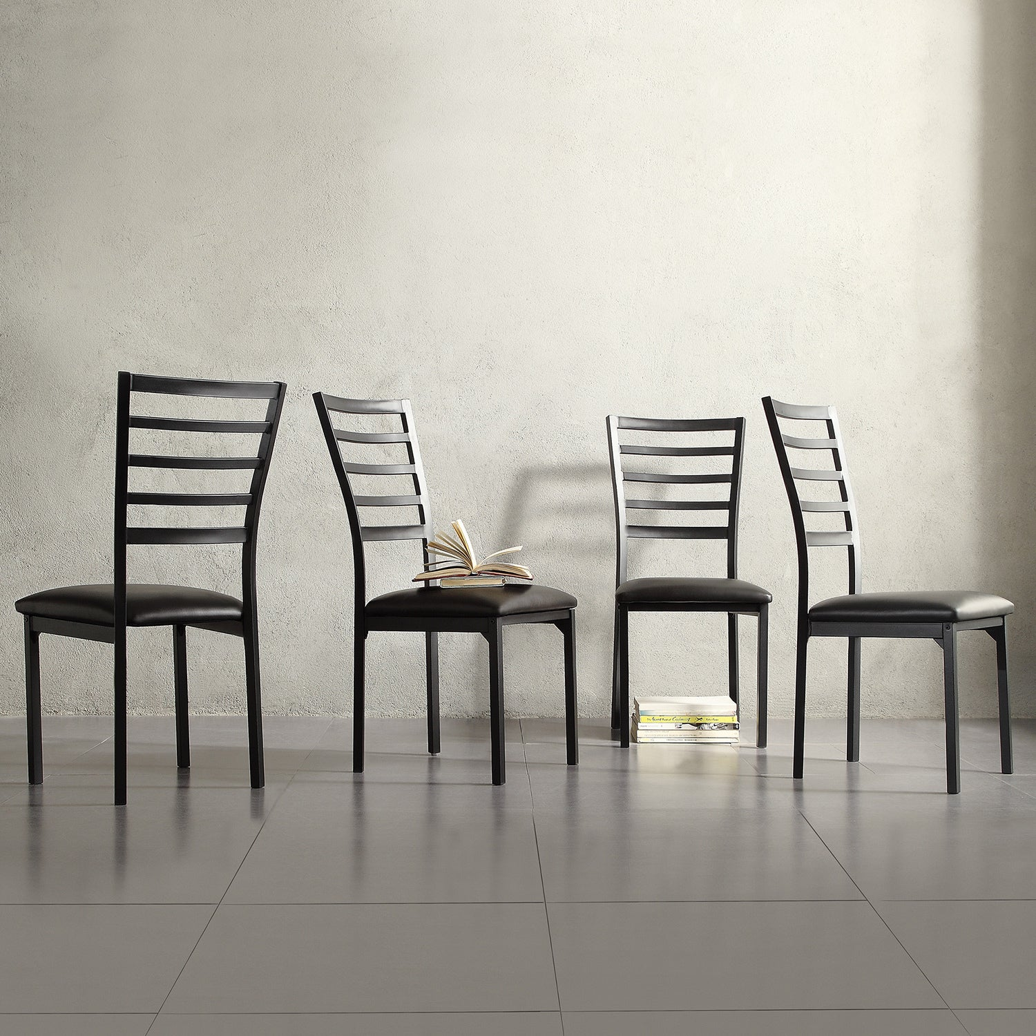 Shop Darcy Ii Espresso Contoured Metal Dining Chairs Set Of 4 By