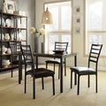 Darcy II Faux Marble Top Black Metal 5-piece Casual Dining Set by iNSPIRE Q Bold