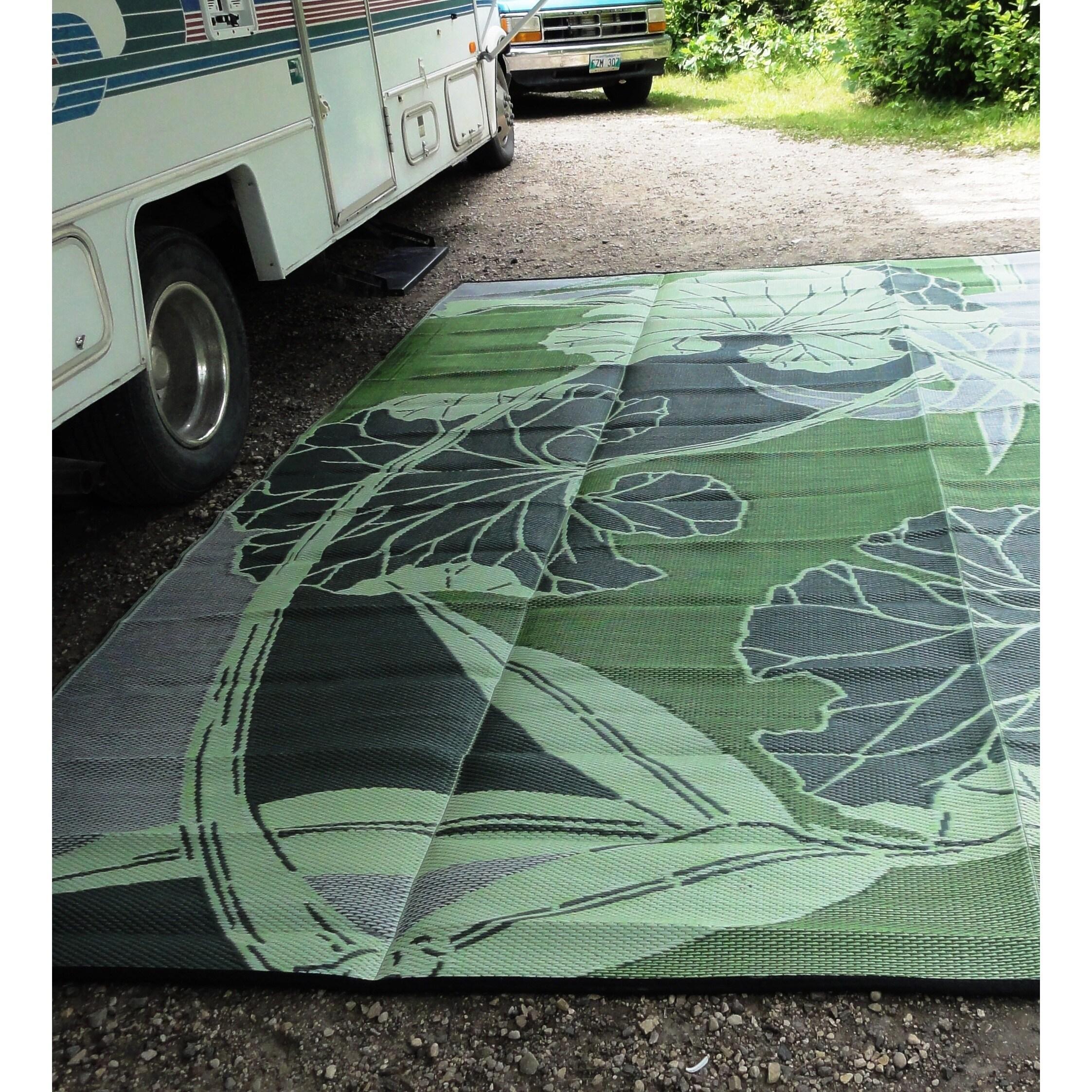 bonia Blossom Outdoor RV Camping Green Grey Reversible