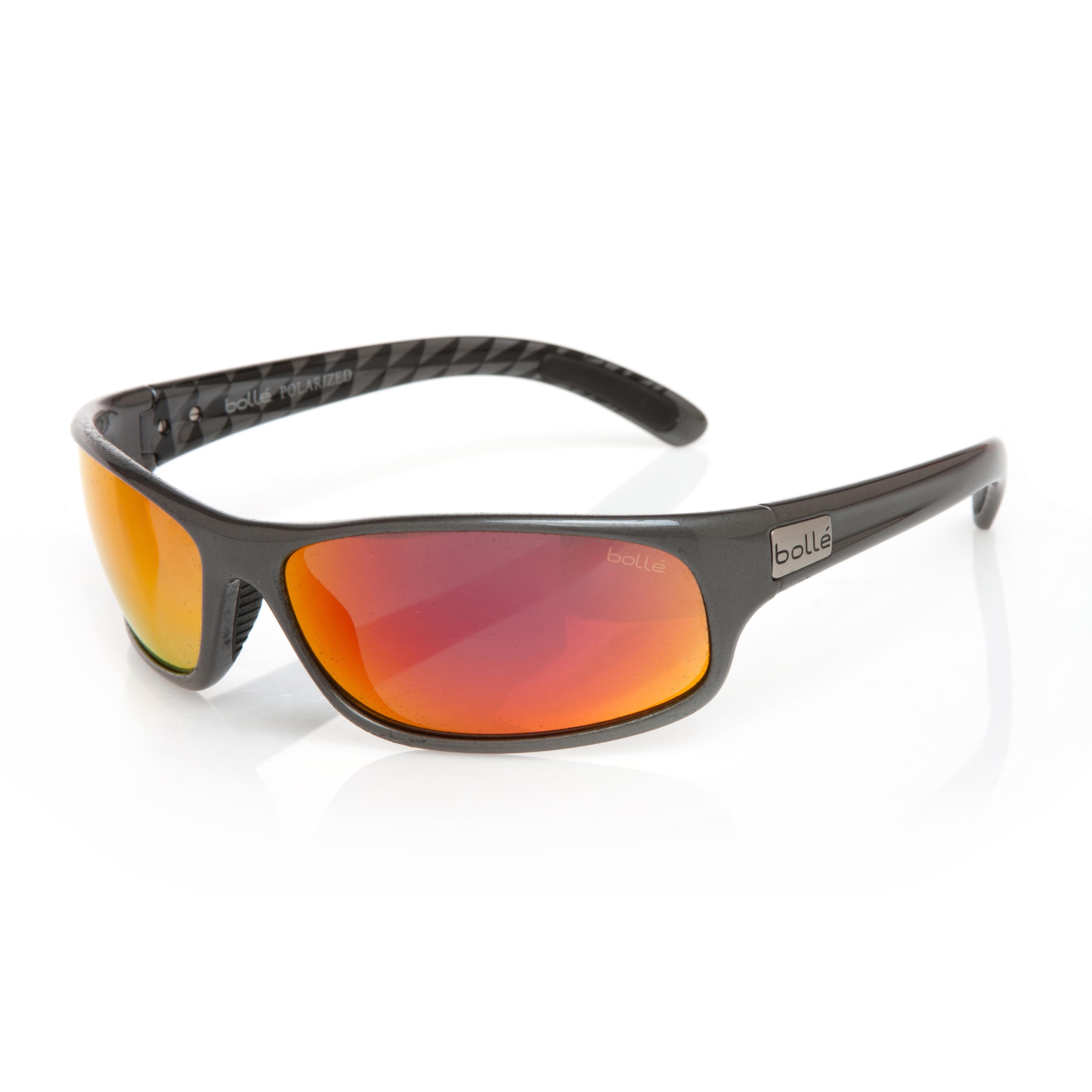 cdc16194f4 Bolle Men s  Anaconda  Shiny Gunmetal Polycarbonate Sport Sunglasses