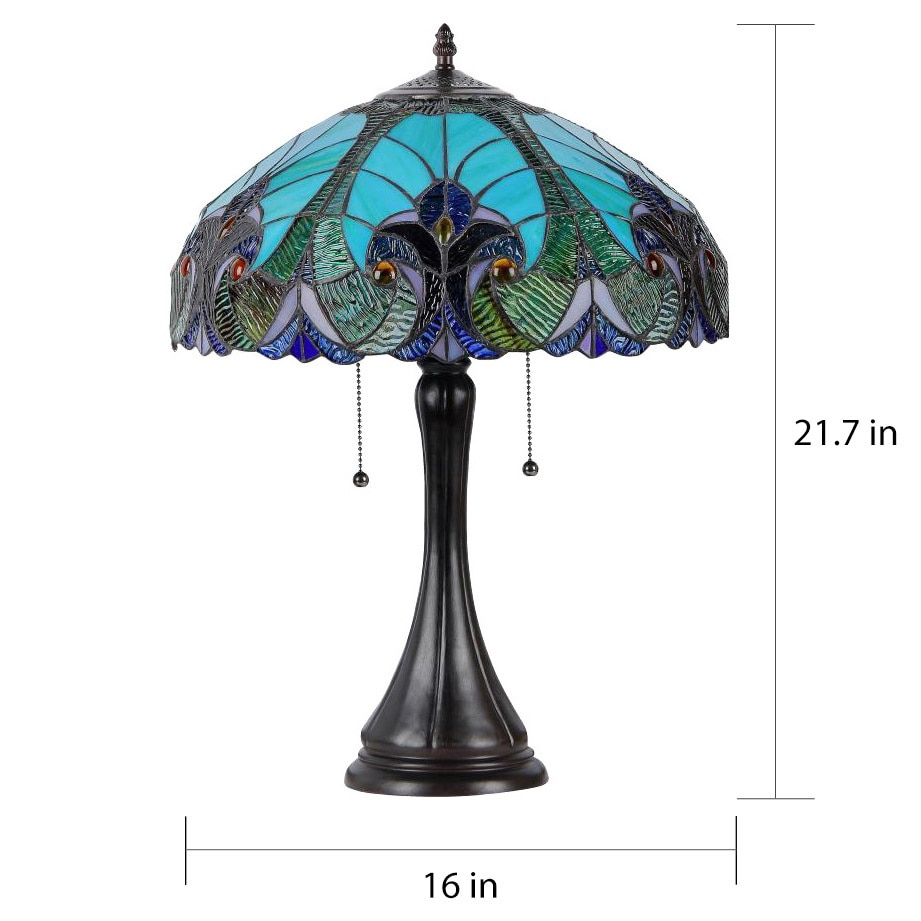 Shop chloe tiffany style victorian 2 light table lamp free shop chloe tiffany style victorian 2 light table lamp free shipping today overstock 8561217 aloadofball Choice Image