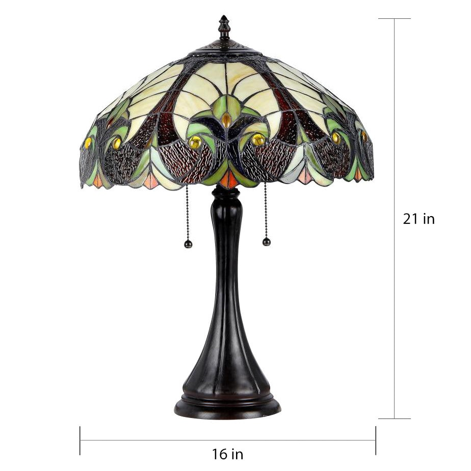 Incroyable Shop Chloe Tiffany Style Victorian 2 Light Antique Bronze Table Lamp   On  Sale   Free Shipping Today   Overstock.com   8561243