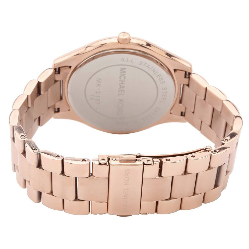 1a2ee1cae58e Shop Michael Kors Women s MK3197  Slim Runway  Rose Goldtone Watch - Free  Shipping Today - Overstock - 8561378