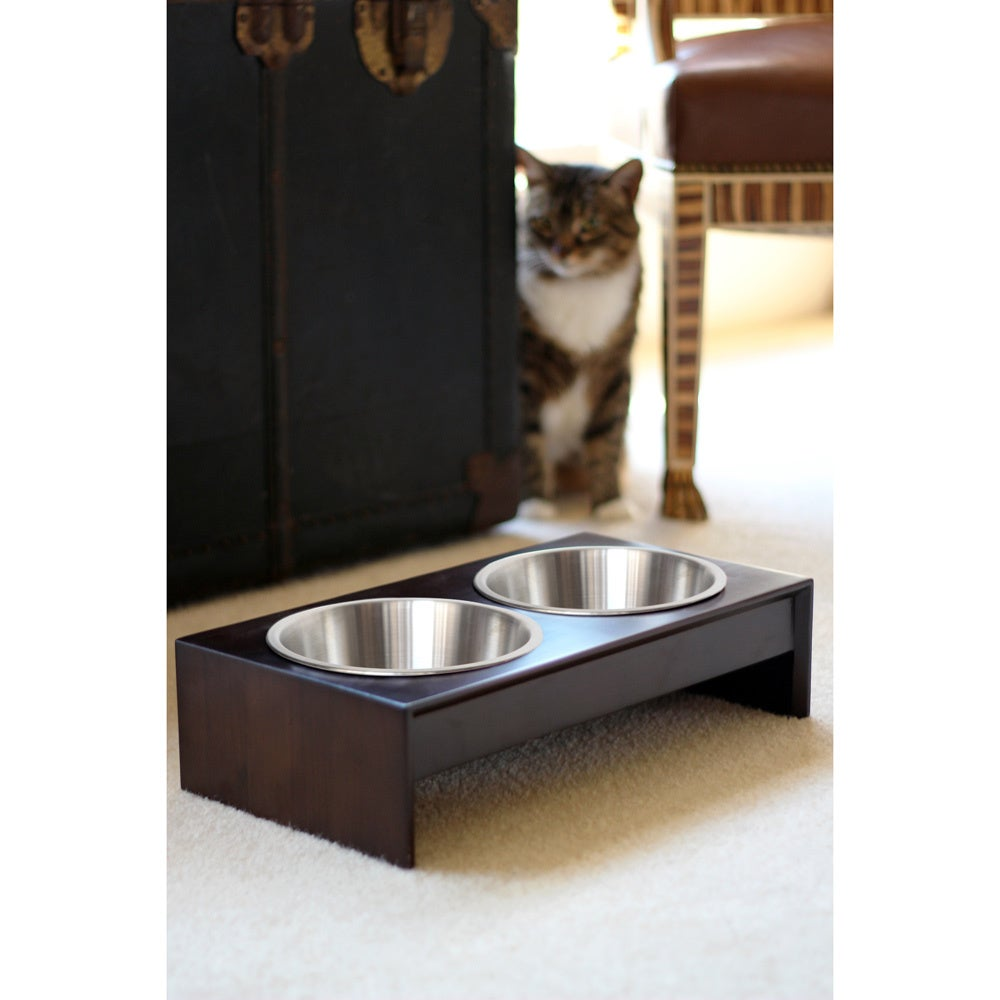 bowls raised toys bowl feeder solid dining with product detail ceramic mykonos stand collection elevated pet platform table pine tilted vivipet cat