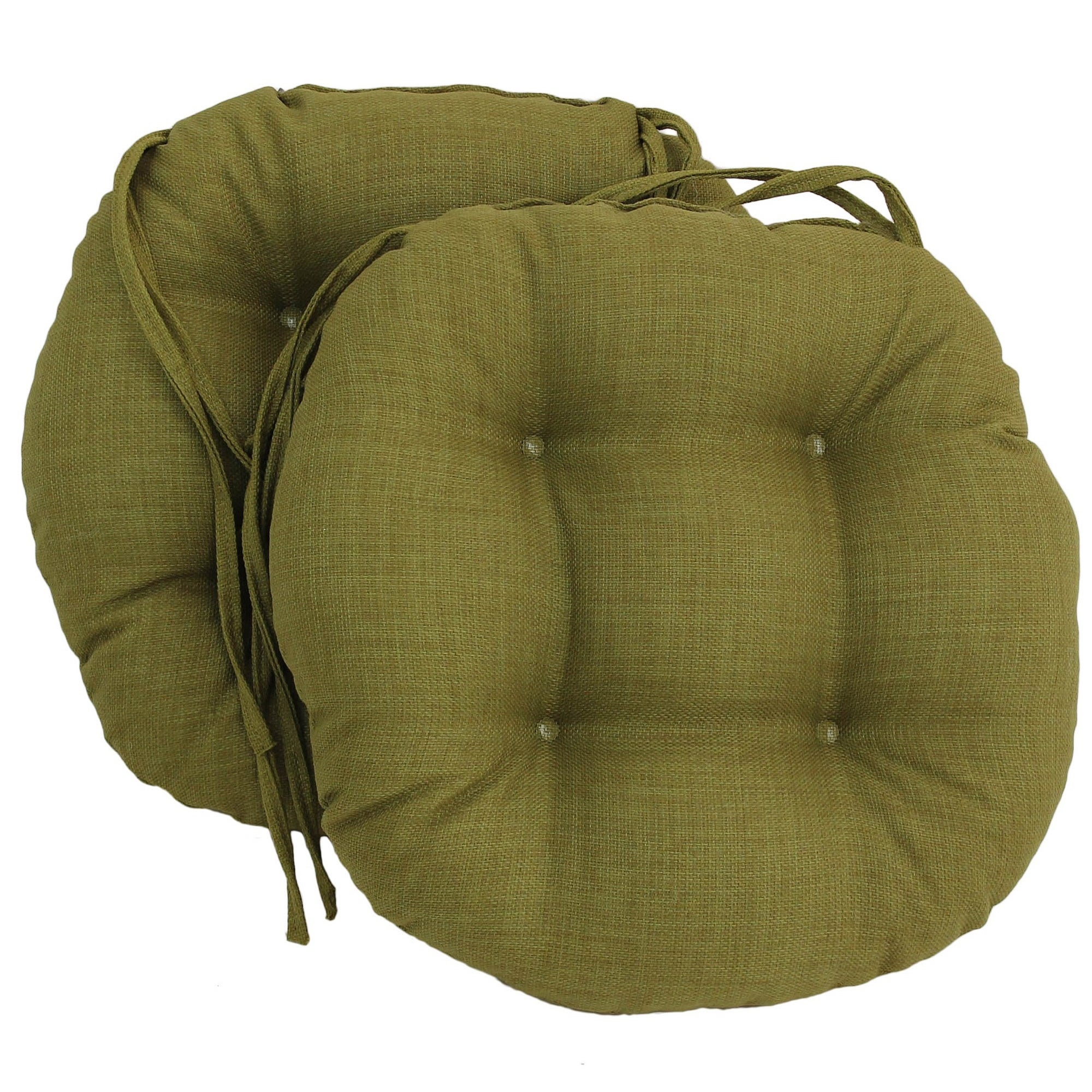Blazing Needles 16x16 inch Round Outdoor Chair Cushions Set of 2