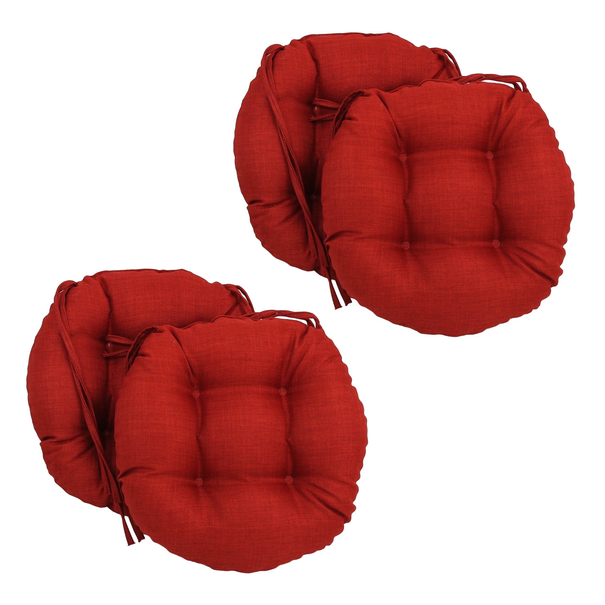 Blazing Needles Solid 16 x 16 inch Round Outdoor Chair Cushions