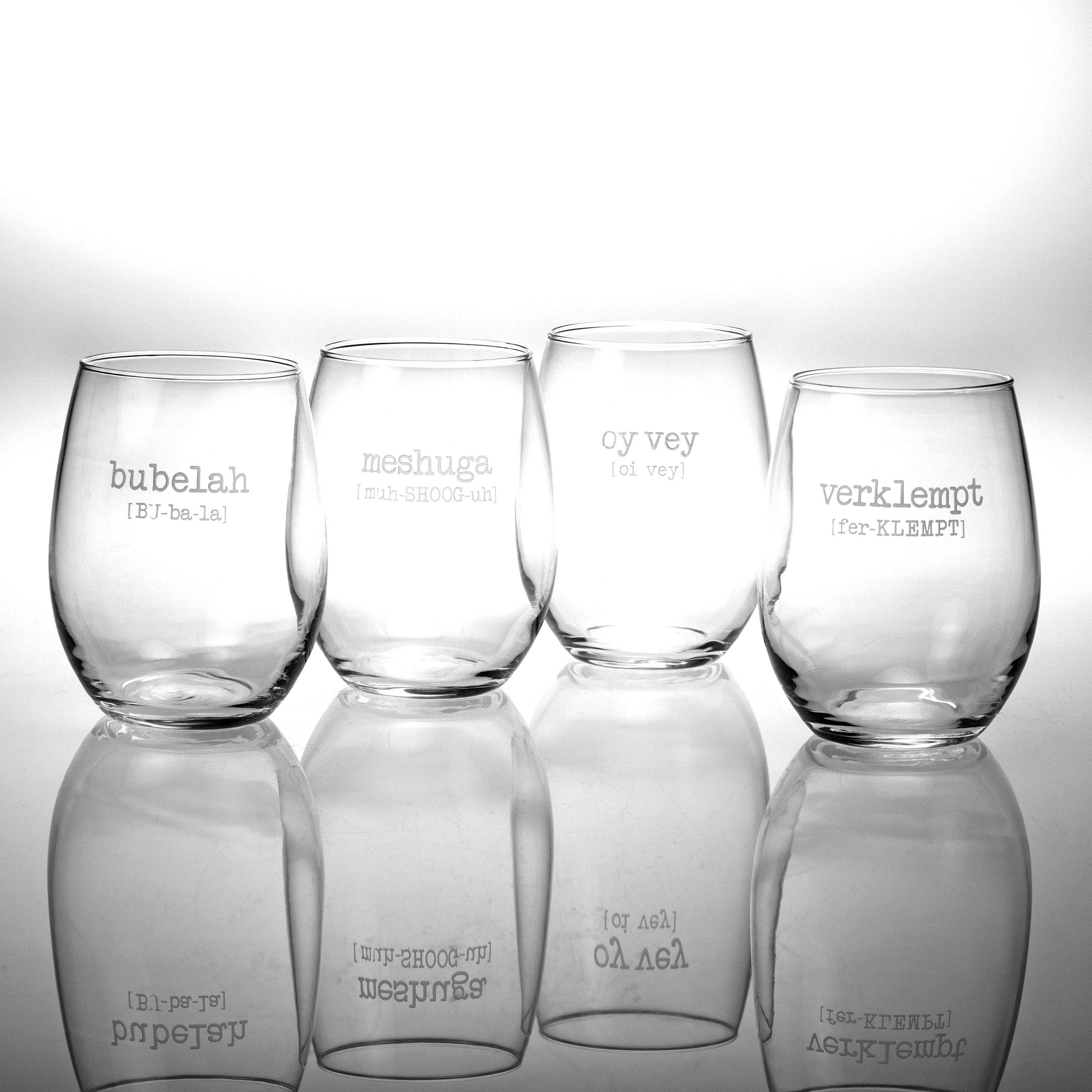fef1a1b6b24 1 Stemless Wine Glass (Set of 4) - On Sale - Free Shipping Today - Overstock  - 8572561