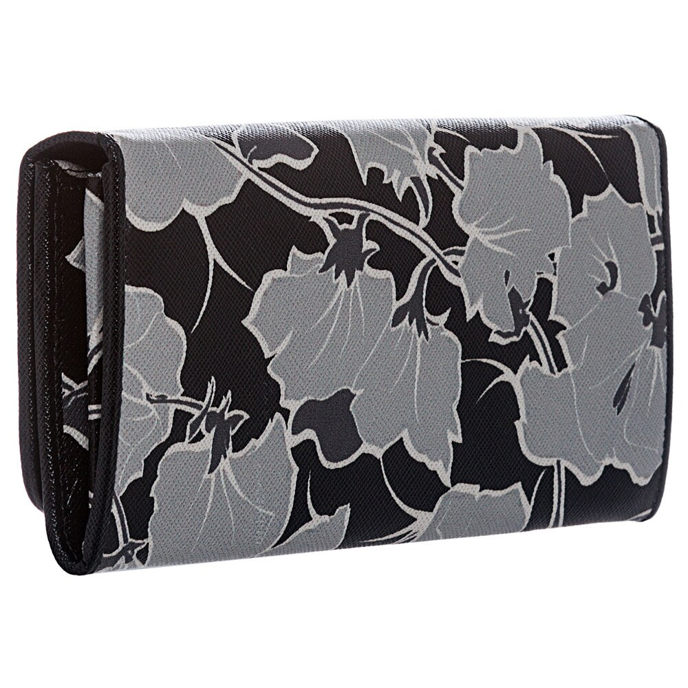 e523a9872f7447 Shop Prada 1M1132 ZNL F0PPK Floral Print Saffiano Continental Wallet - Free  Shipping Today - Overstock - 8572655