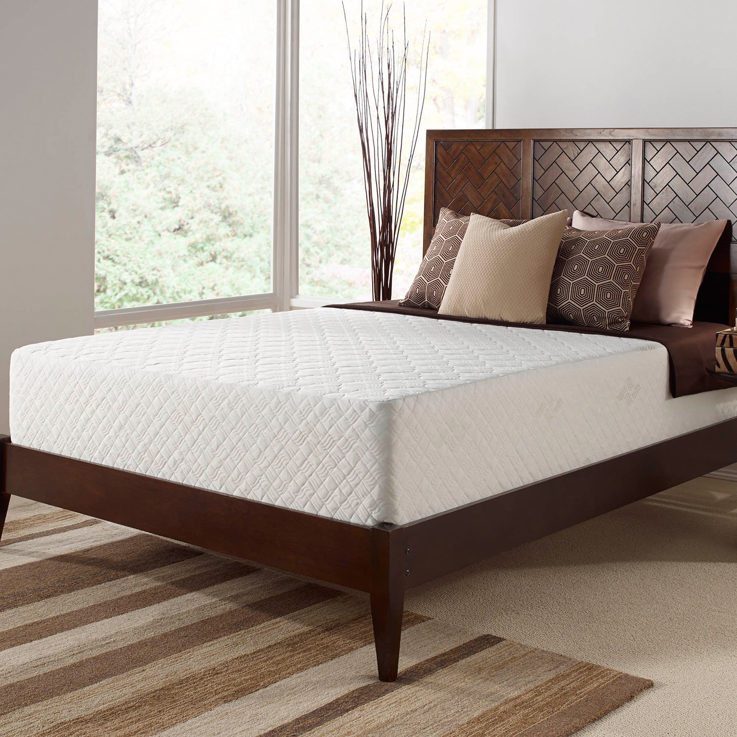 Touch of fort Deluxe 12 inch King size Memory Foam Mattress