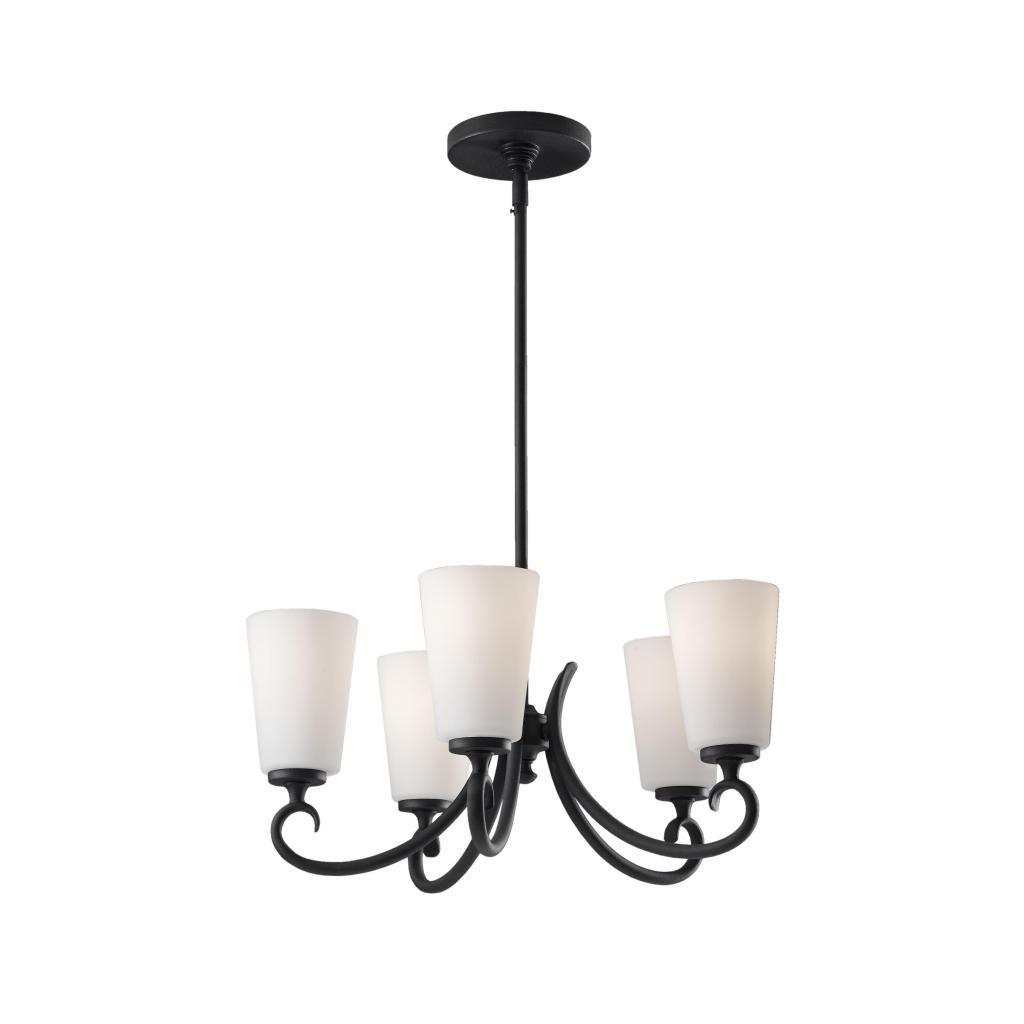 Peyton 5 Light Black Chandelier Free Today Com 8574600