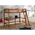 Donco Kids Twin Modular Study Loft with Double Shelves