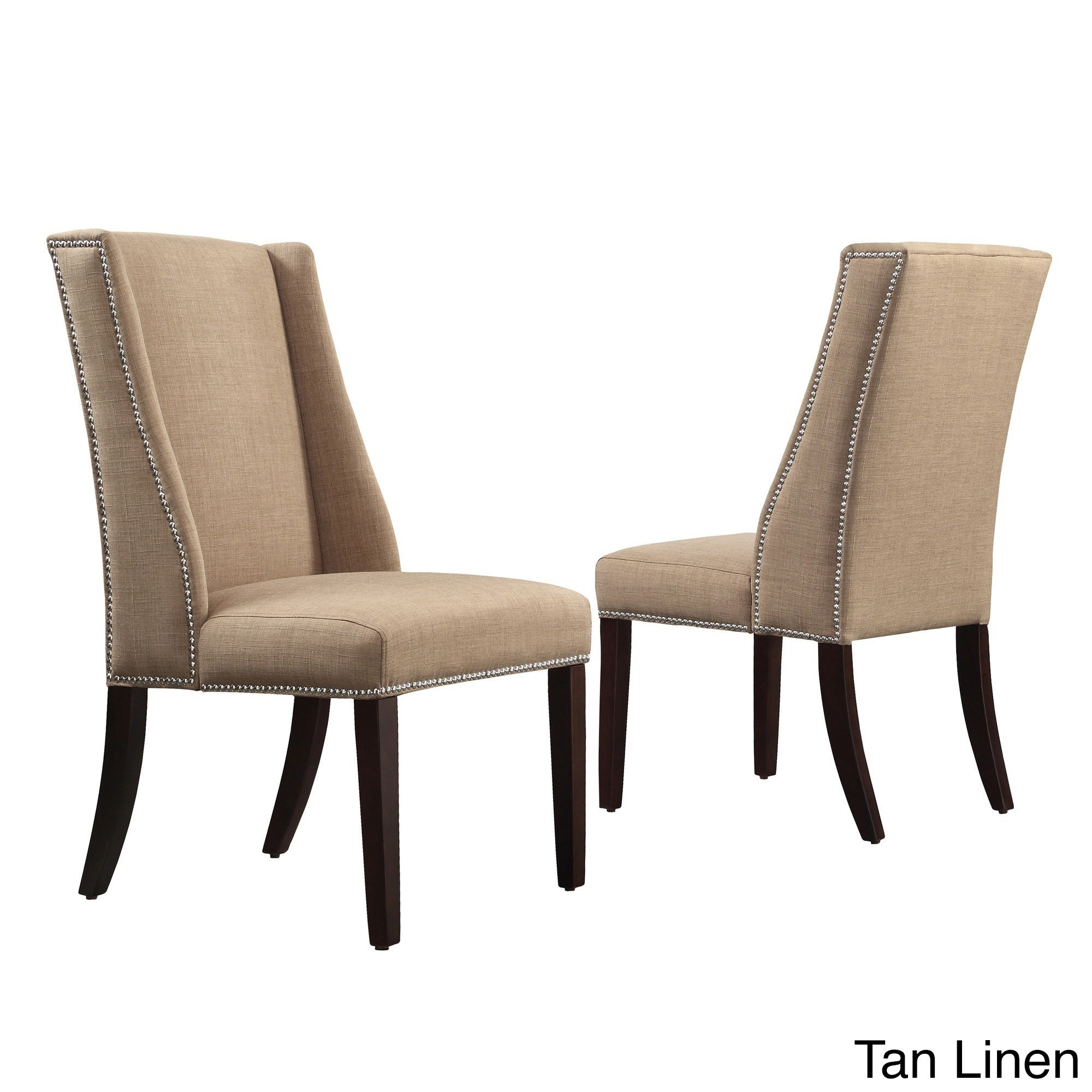 INSPIRE Q Geneva Linen Wingback Hostess Chairs (Set of 2) - Free Shipping  Today - Overstock.com - 15851623