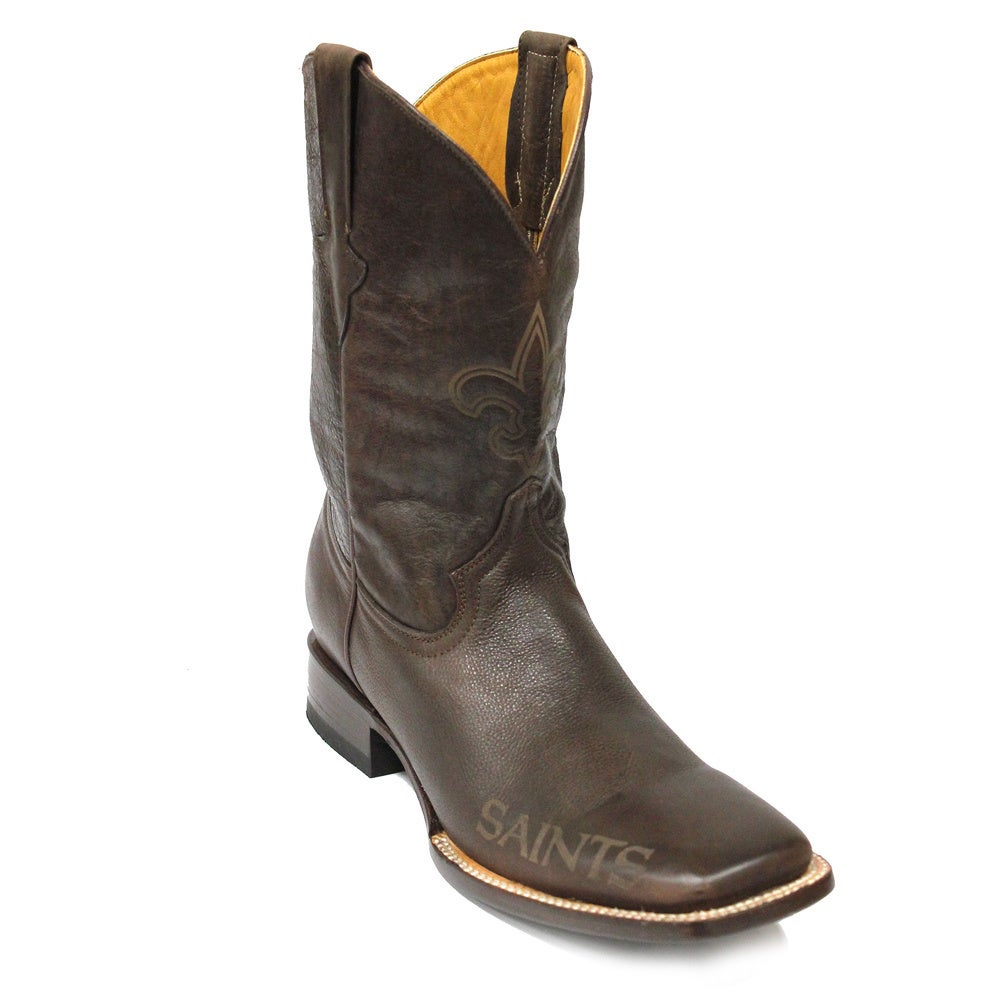 19ff79e8 New Orleans Saints Square Toe Classic Leather Boots
