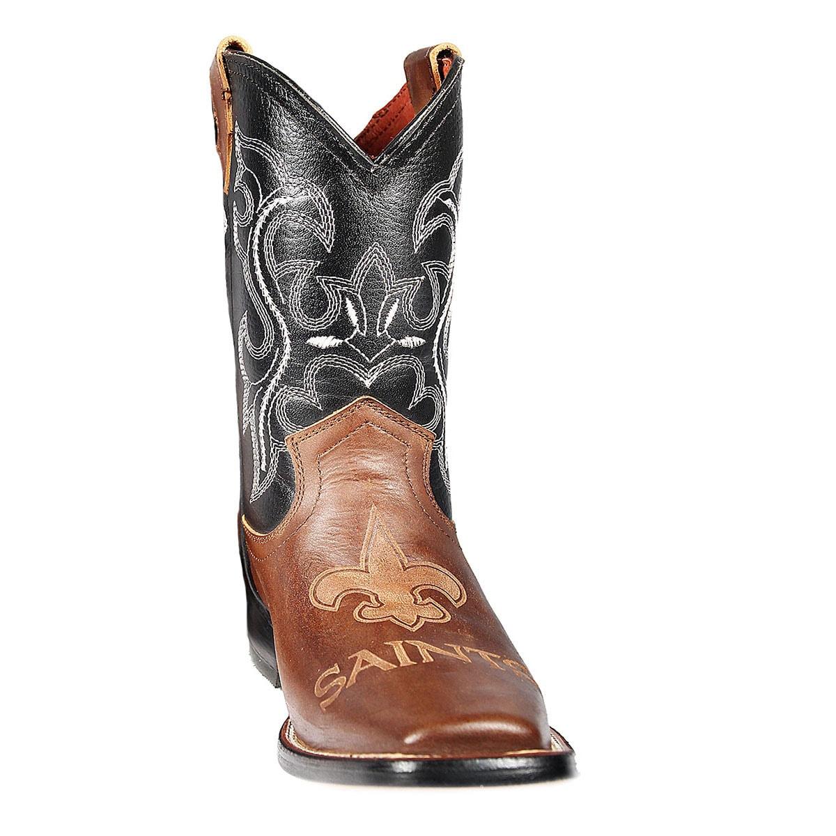 72037833 New Orleans Saints Junior Western Boots