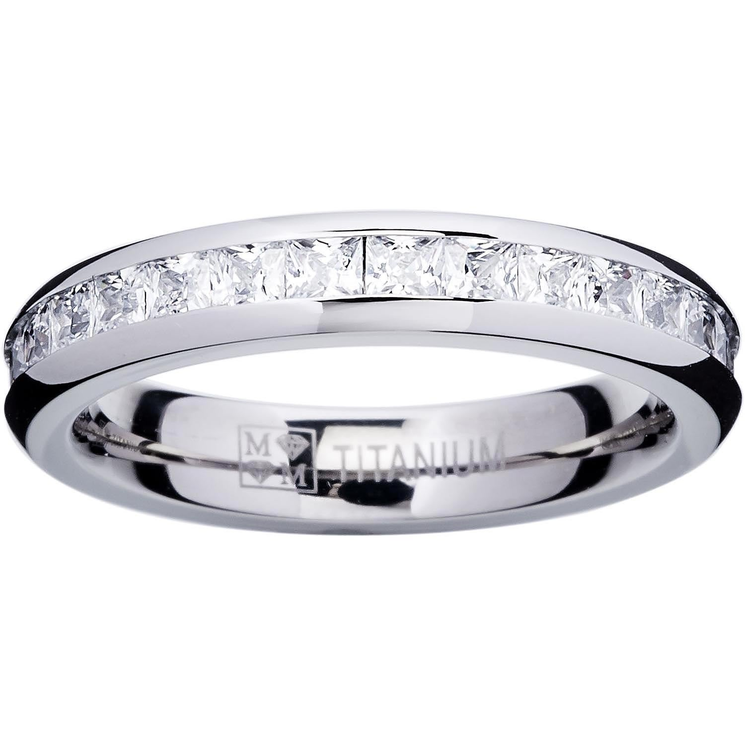 anniversary cocktail wide ring carat sparkles plated eternity cut zirconia faux silvertone cz tier ina products beloved bands diamond band wedding round cubic silver rhodium