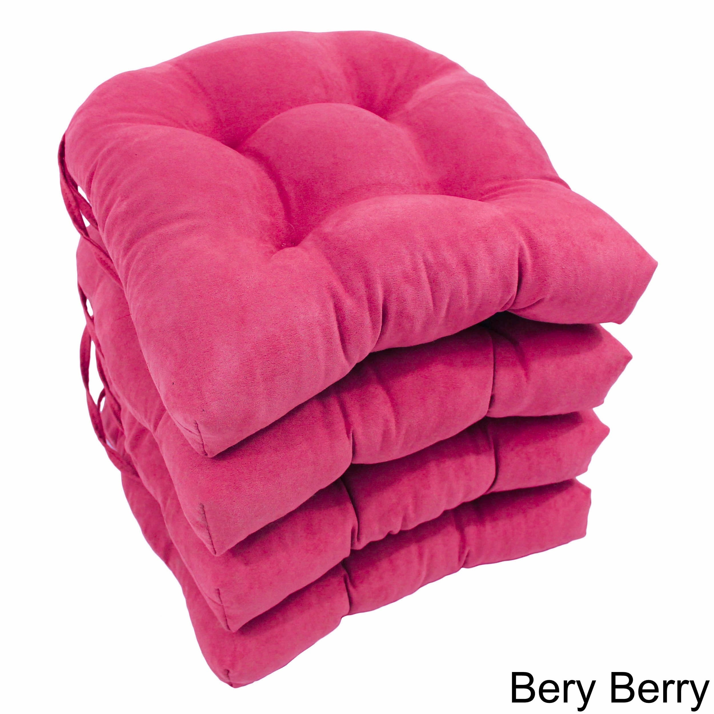 Exceptionnel Shop Blazing Needles 16 Inch Microsuede U Shaped Chair Cushions (Set Of 4)    On Sale   Free Shipping Today   Overstock.com   8578275