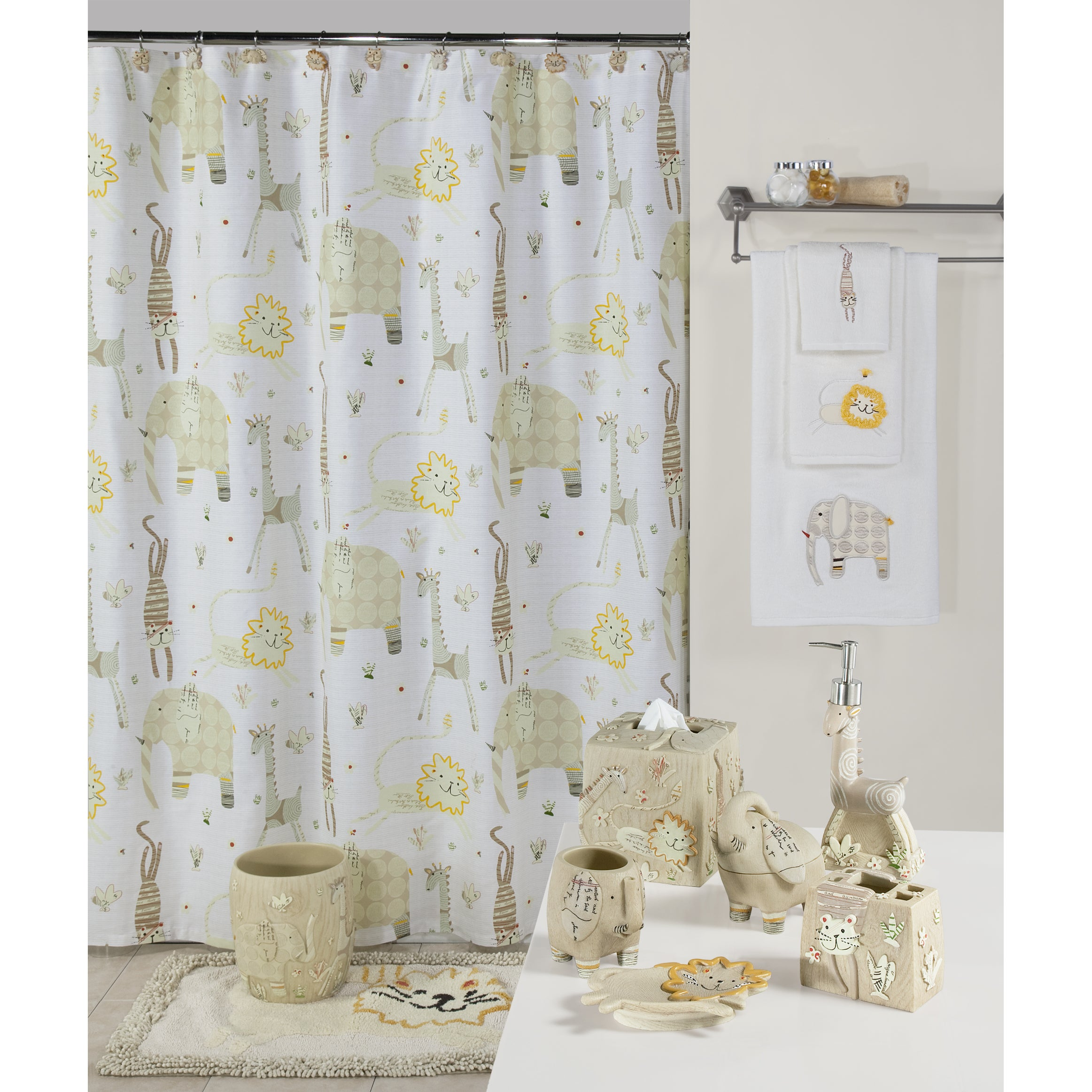 Shop Animal Crackers Bathroom Set - Free Shipping On Orders Over $45 ...