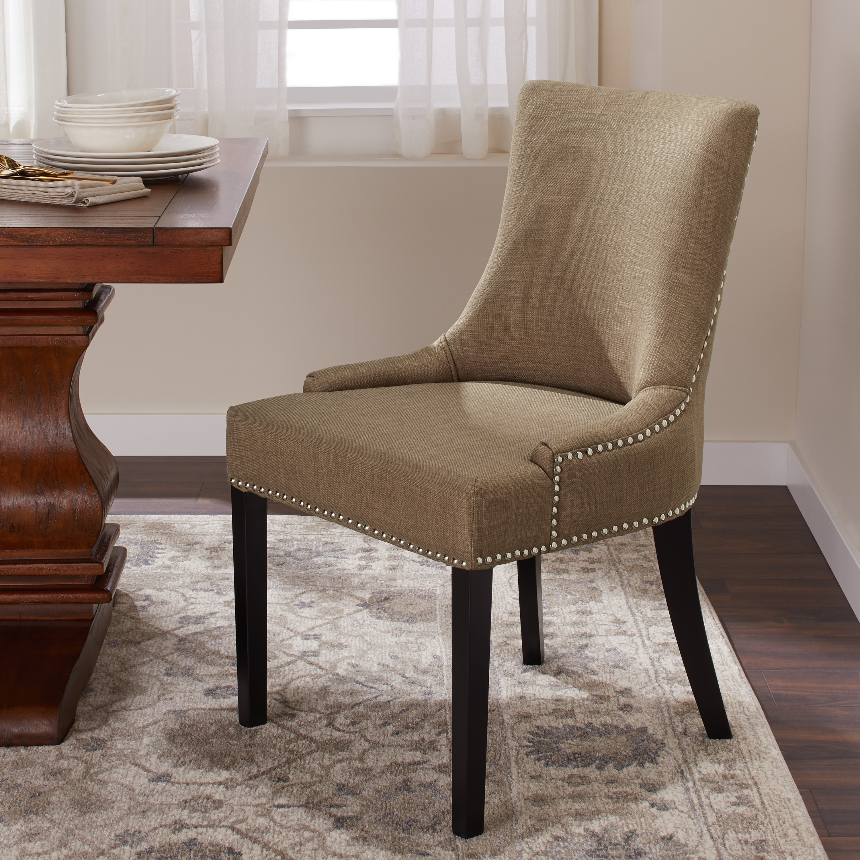 Wondrous Nailhead Trim Chair The Arts Onthecornerstone Fun Painted Chair Ideas Images Onthecornerstoneorg