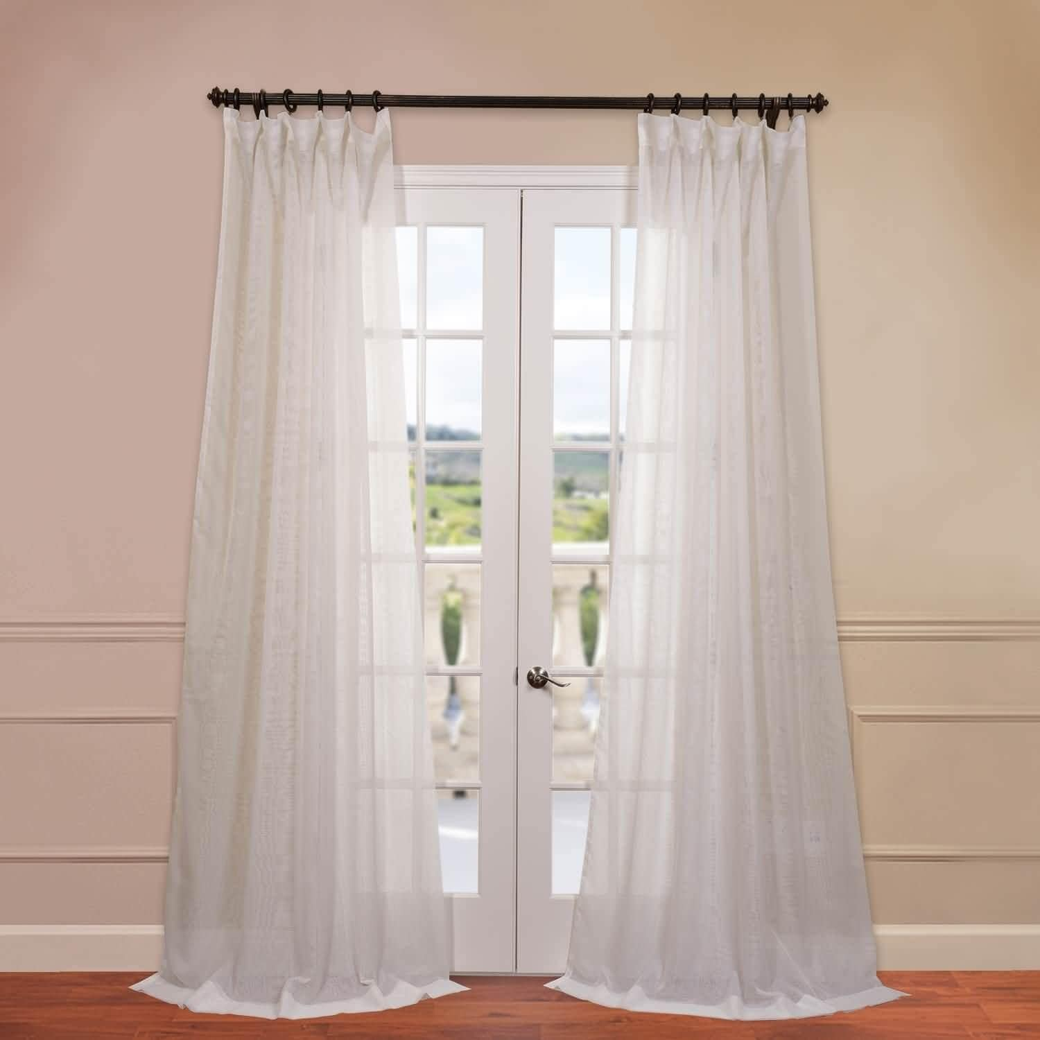 Exclusive Fabrics Signature Double Layer Sheer Curtain Panel On Free Shipping Orders Over 45 8582819