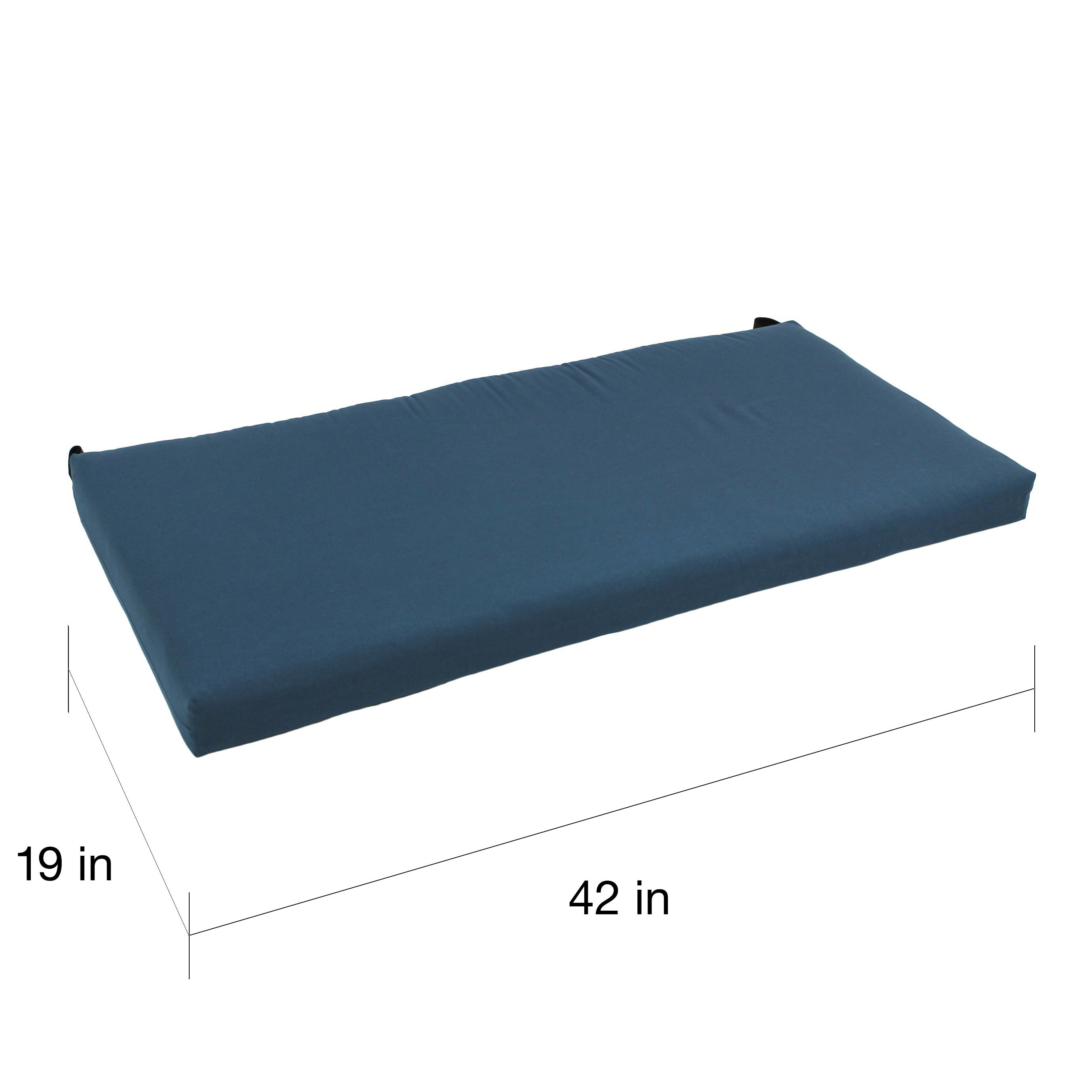 Blazing Needles 42 Inch Solid Twill Indoor Bench Cushion
