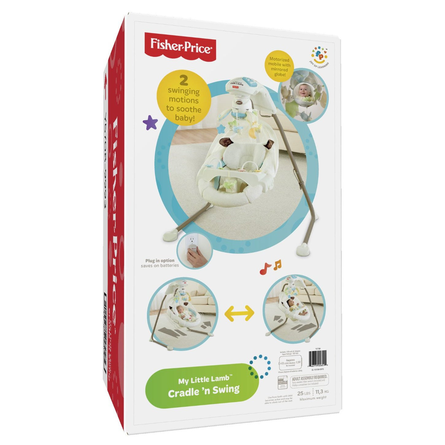 Shop Fisher Price My Little Lamb Cradle N Swing With Plug In Option