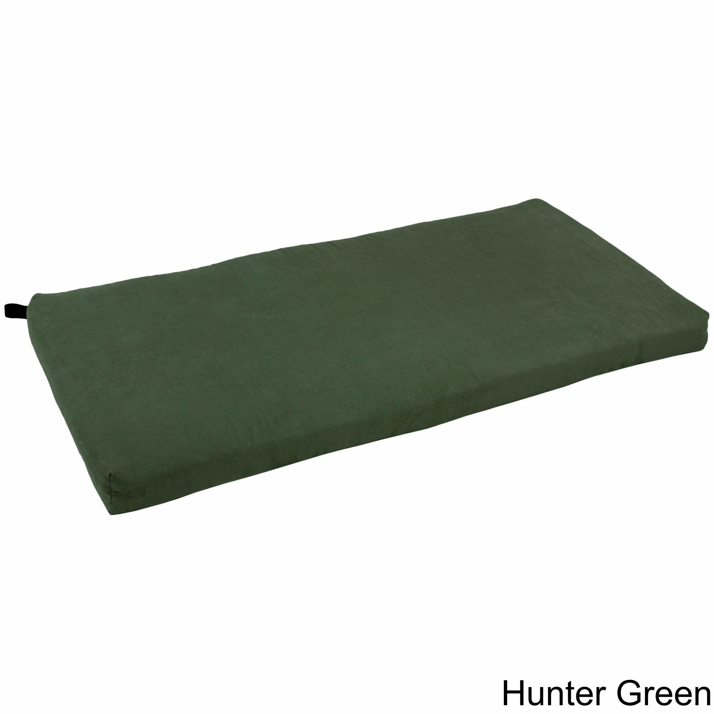 Shop Blazing Needles 42 Inch Microsuede Indoor Bench Cushion On