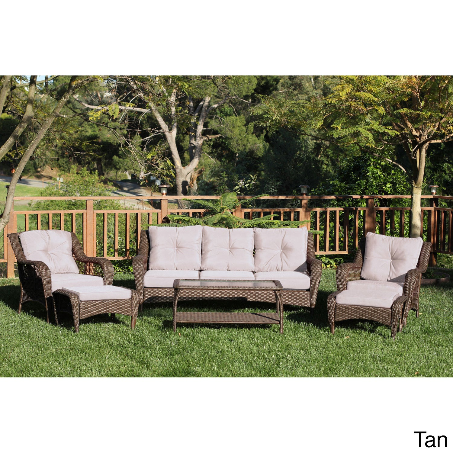 Resin Wicker 6 piece Patio Conversation Set Free Shipping Today