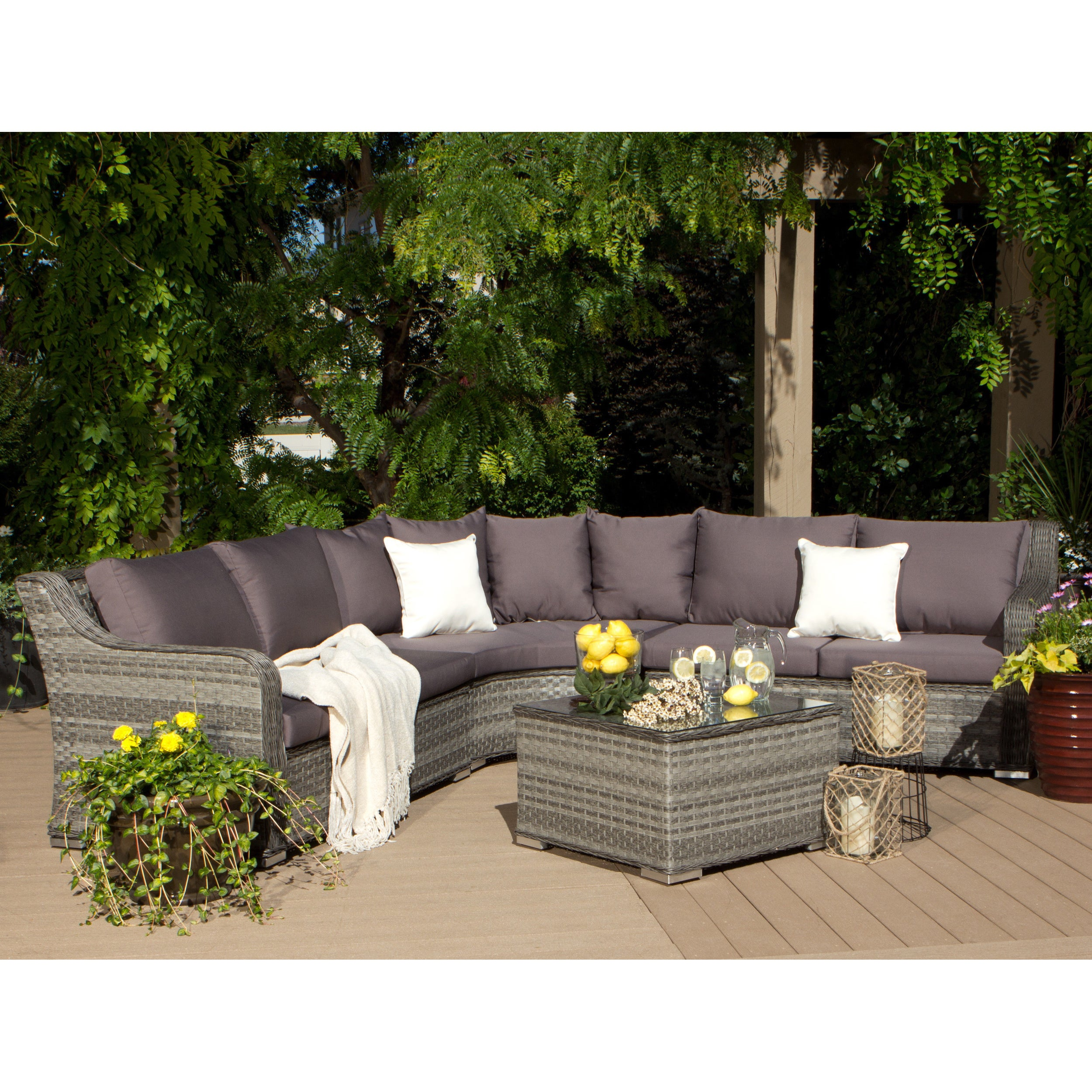 Shop Havenside Home Belfast 4 Piece Outdoor Sectional Free