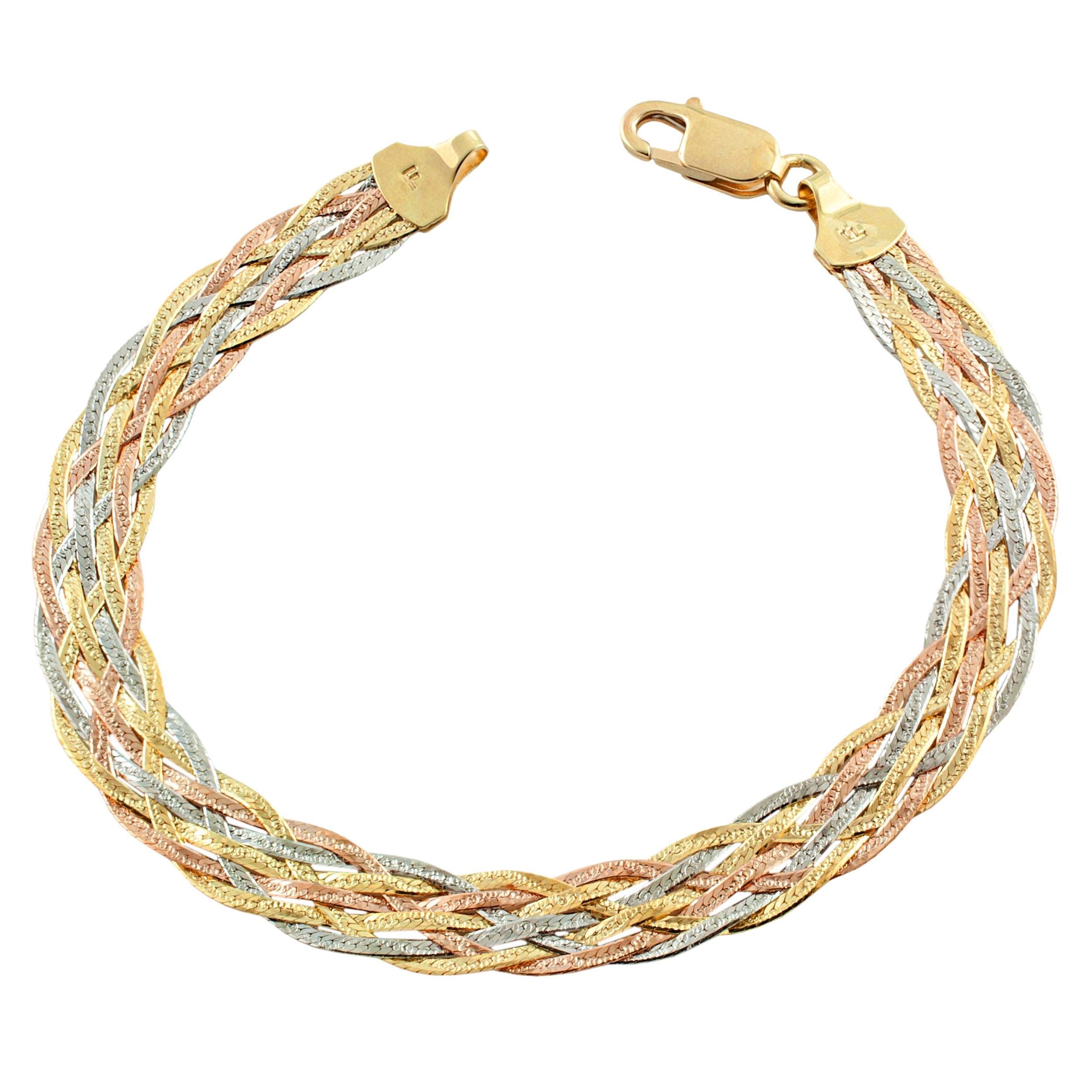 safety karat bangles owned bracelets gold yellow bangle with pre product clasp twisted