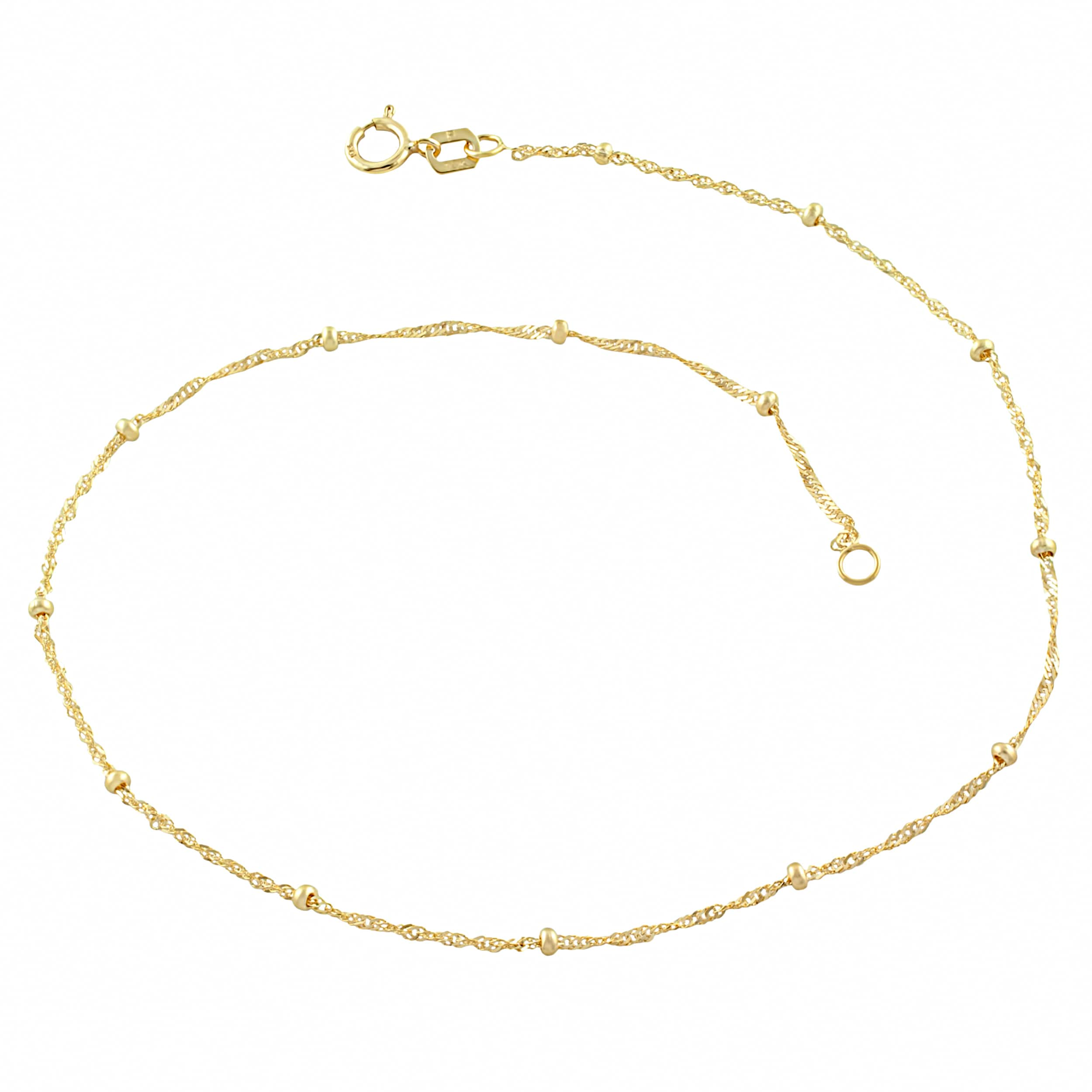 rose solid il open gold charm dot bracelet bangle bead oval thick dainty fashion love anklet products fullxfull
