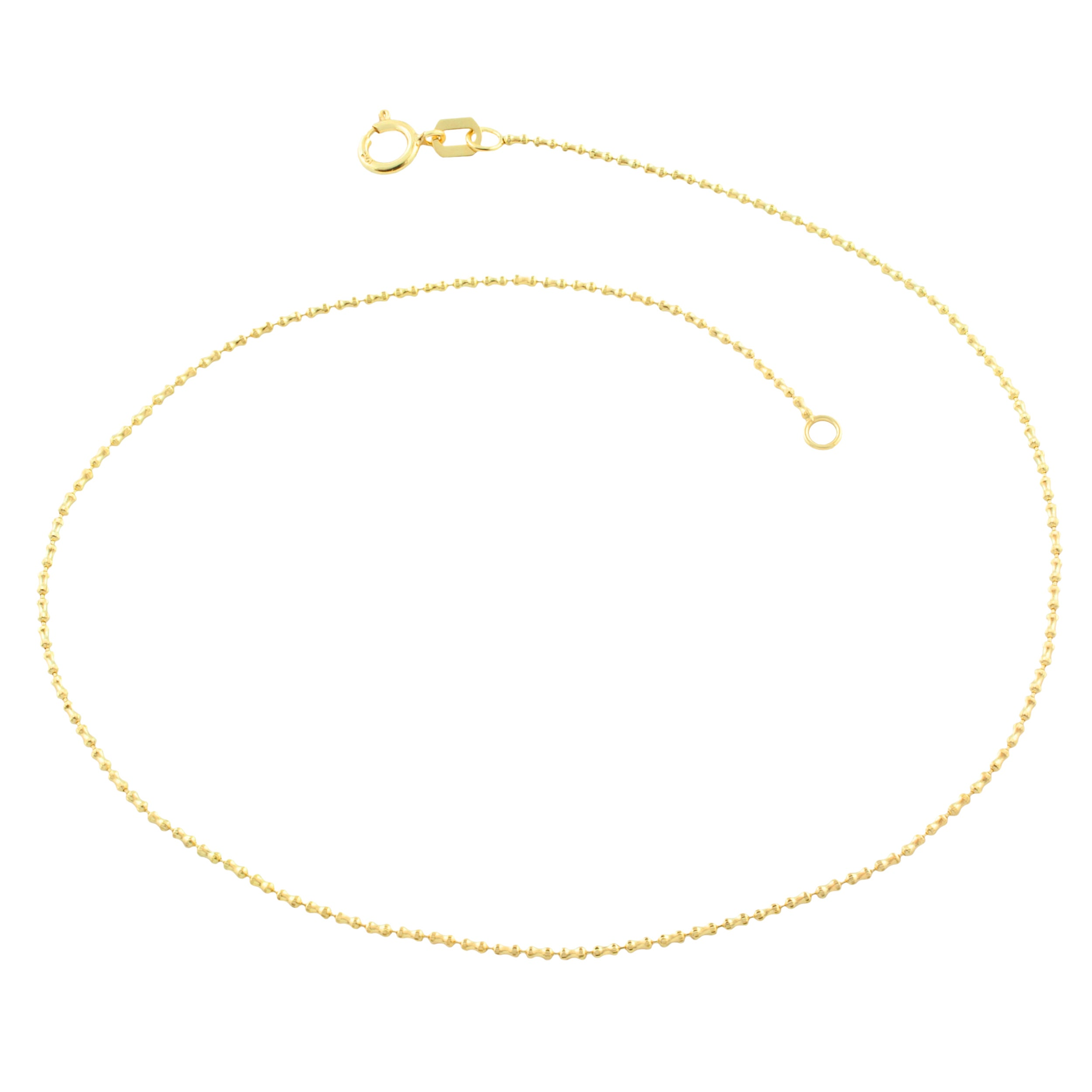 cute diamond with cut gold karat mm rope anklet spring k clasp yellow ring chain